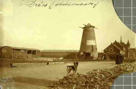 Sloop van de Clercxmolen in 1911